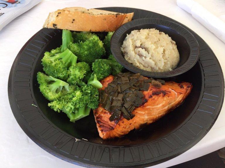 Salmon dinner Seafood Atlantic