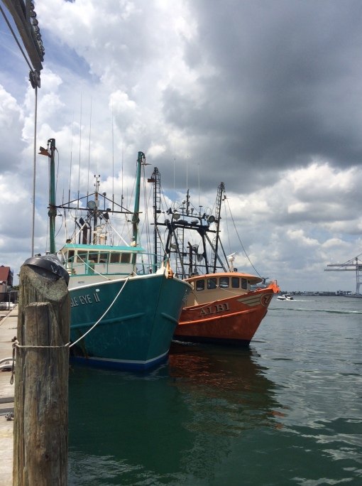 2 Swordfishing Boats tied up at Seafood Atlantic's dock