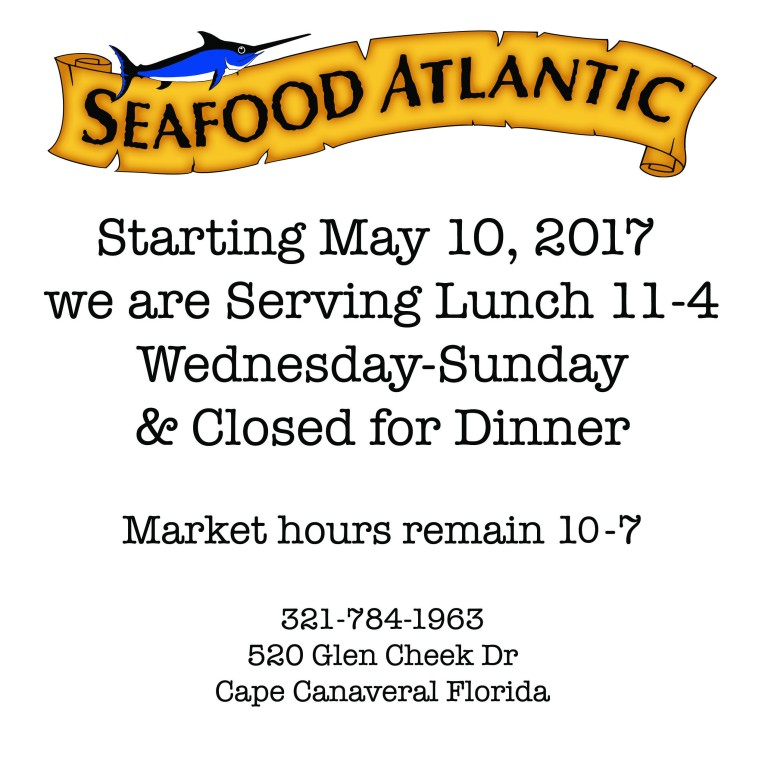 New Hours Seafood Atlantic