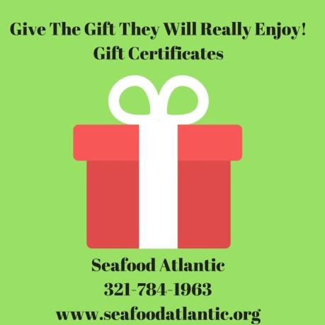 Seafood Atlantic gift certificate