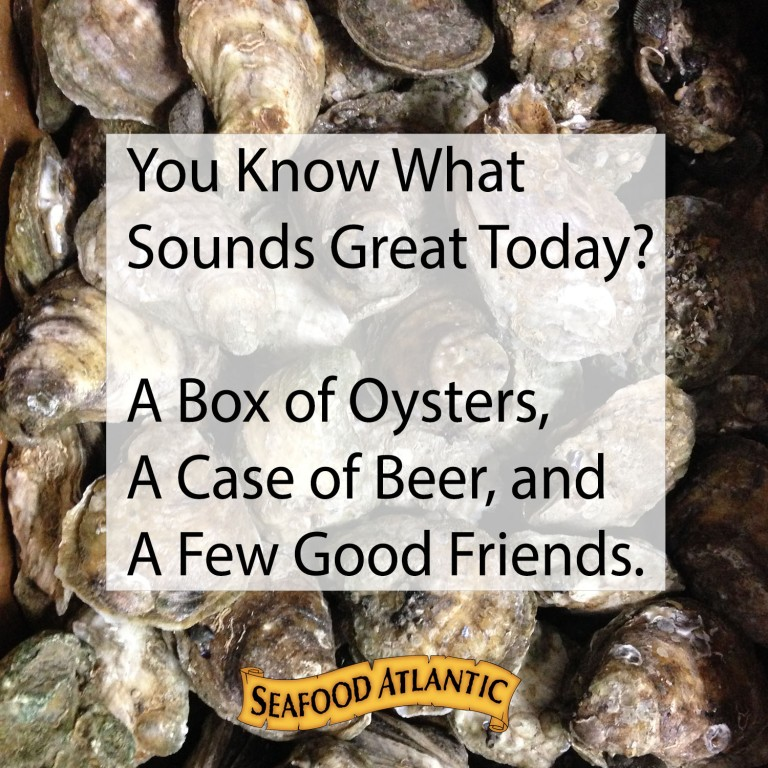 Box of oysters